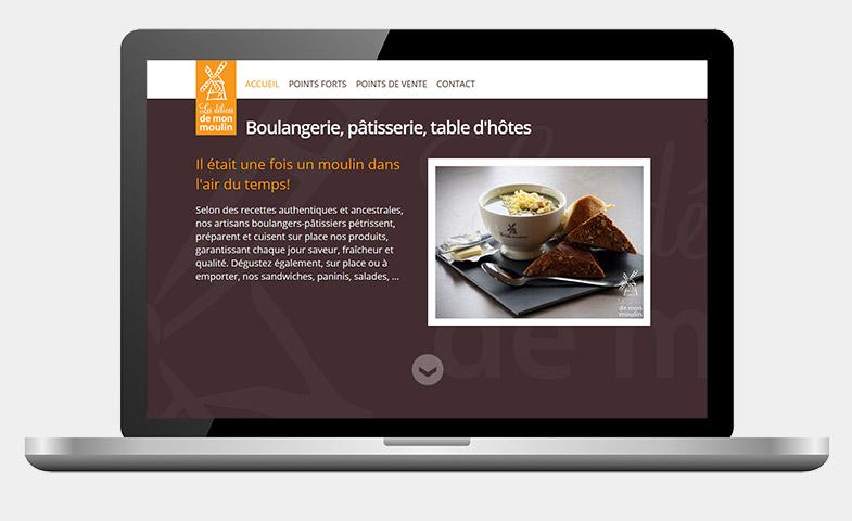 Nathalie Noblet - Site web - Intégration CSS & HTML pour Les délices de mon moulin