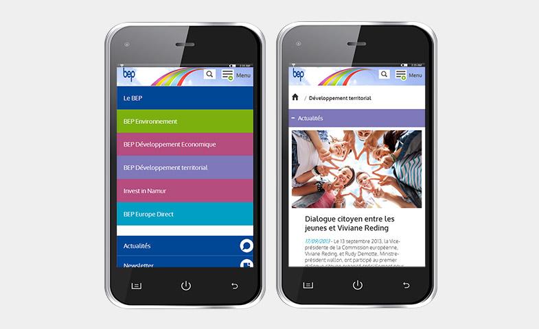 Nathalie Noblet - Application mobile - Webdesign, Intégration html & css pour Le Bep